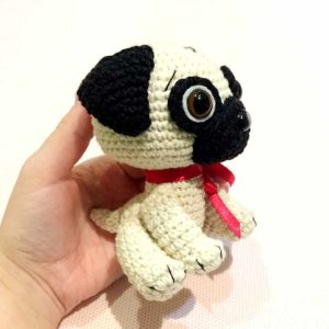 Crochet Pug Dog - Free amigurumi pattern by Amigurumi Today