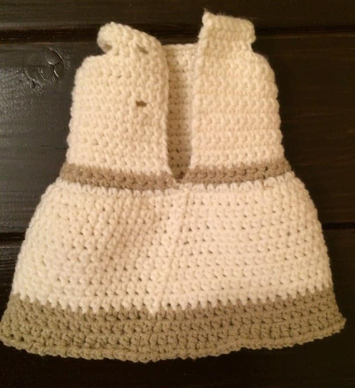 crochet toy dress