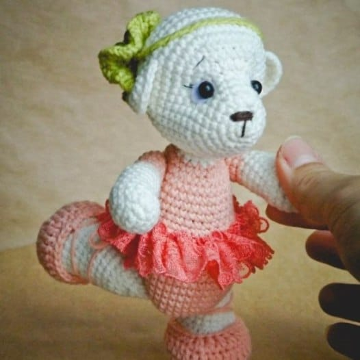 Amigurumi Today Bear : Teddy ballet dancer crochet pattern - Amigurumi Today
