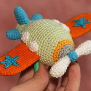 airplane crochet amigurumi pattern