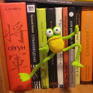 Mr. Frog the yoga master: crochet pattern 1