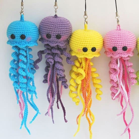 happy jellyfish amigurumi crochet pattern for free