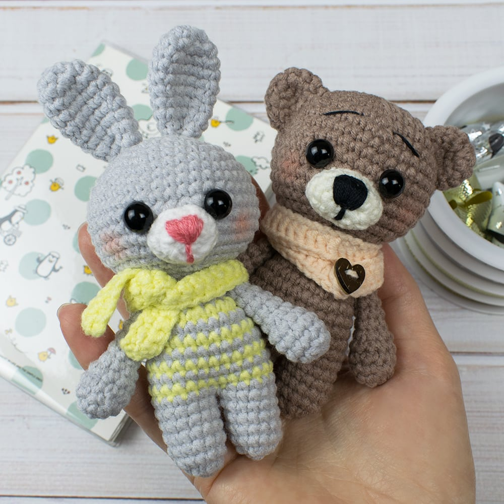 amigurumi animals tiny crochet dolls soft by tinyworldbycrochAndi | 1000x1000