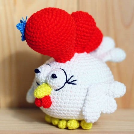 Small rooster amigurumi pattern - Amigurumi Today