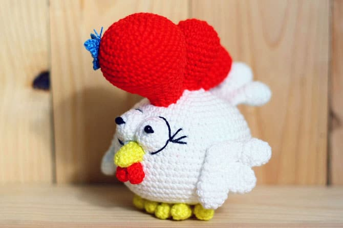 Small rooster free crochet pattern