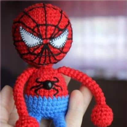 Spiderman amigurumi free crochet pattern