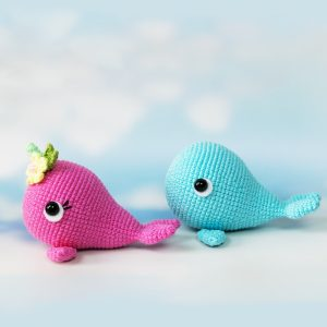 Amigurumi Blue Whale and Narwhal - Free crochet patterns