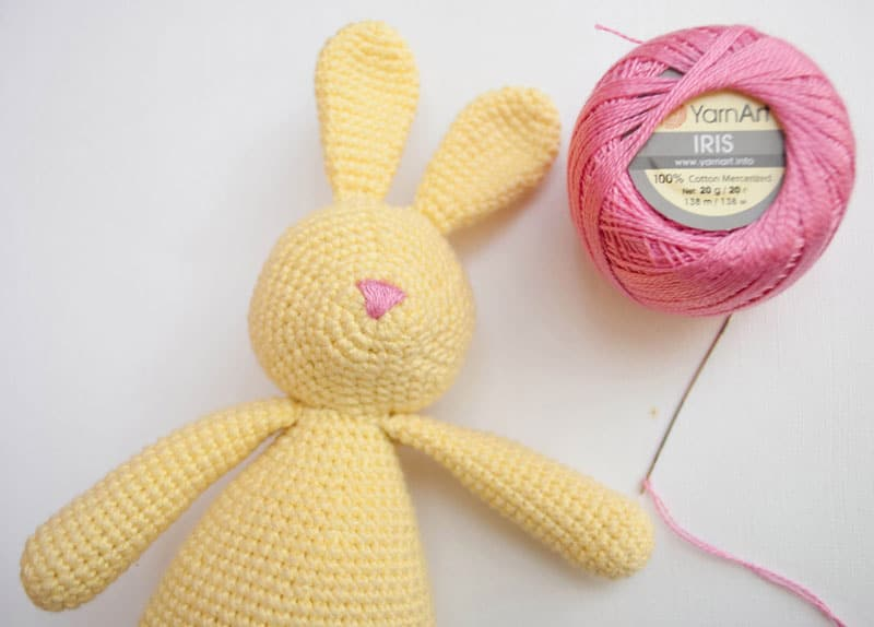 Amigurumi rabbit rattle crochet pattern