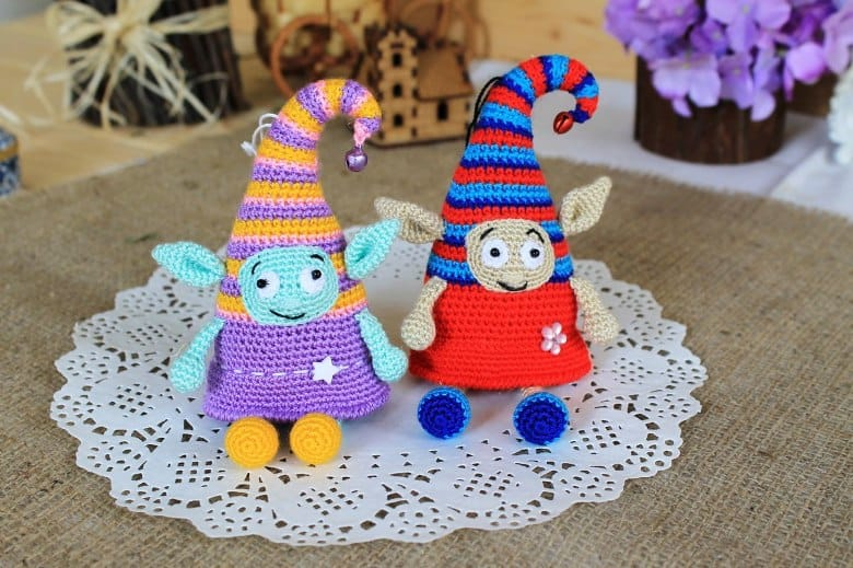 Crochet elf doll amigurumi pattern
