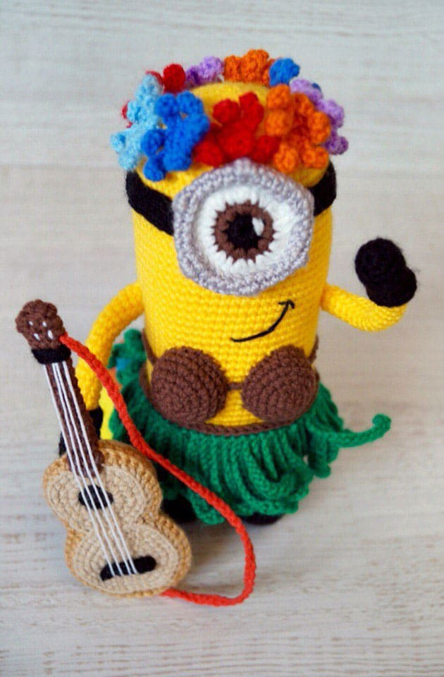 Hawaiian Minion Crochet Pattern Amigurumi Today Magnificent Free Minion Crochet Pattern