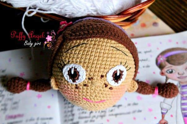 Doc McStuffins crochet pattern - head