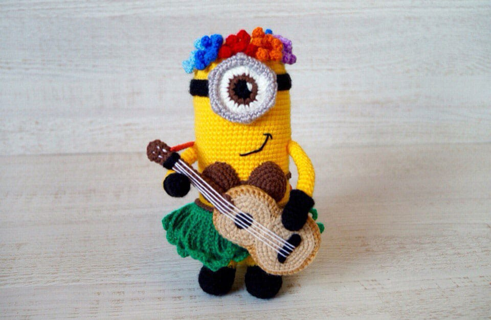 Hawaiian Minion Crochet Pattern Amigurumi Today Custom Free Minion Crochet Pattern