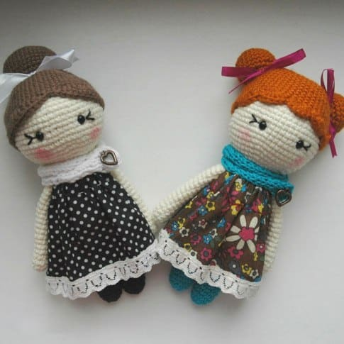 Little lady doll free crochet amigurumi pattern