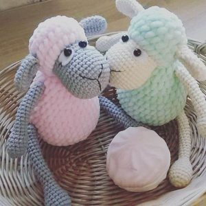 Amigurumi sheep plush toy pattern 1