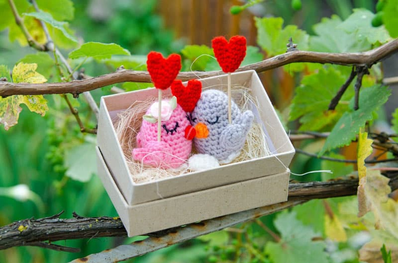 Birds in love free amigurumi pattern