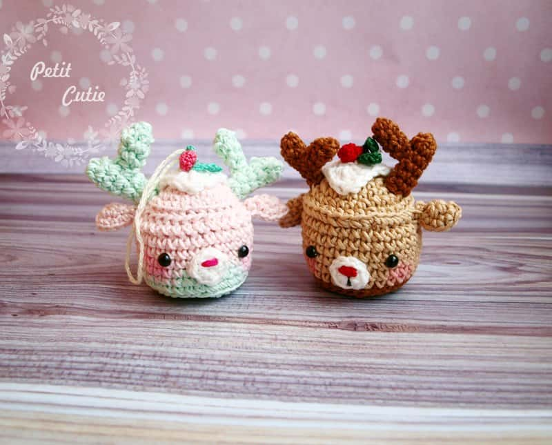 Christmas deer cupcake pattern