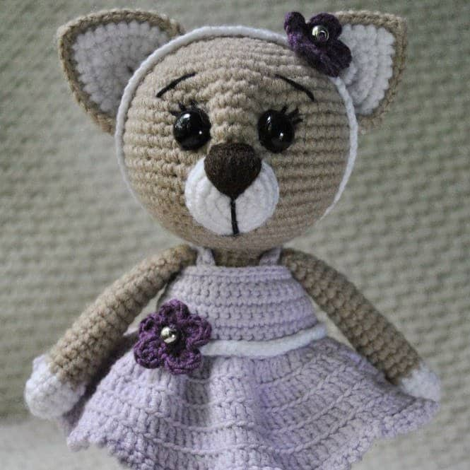 Lady cat amigurumi pattern - Amigurumi Today