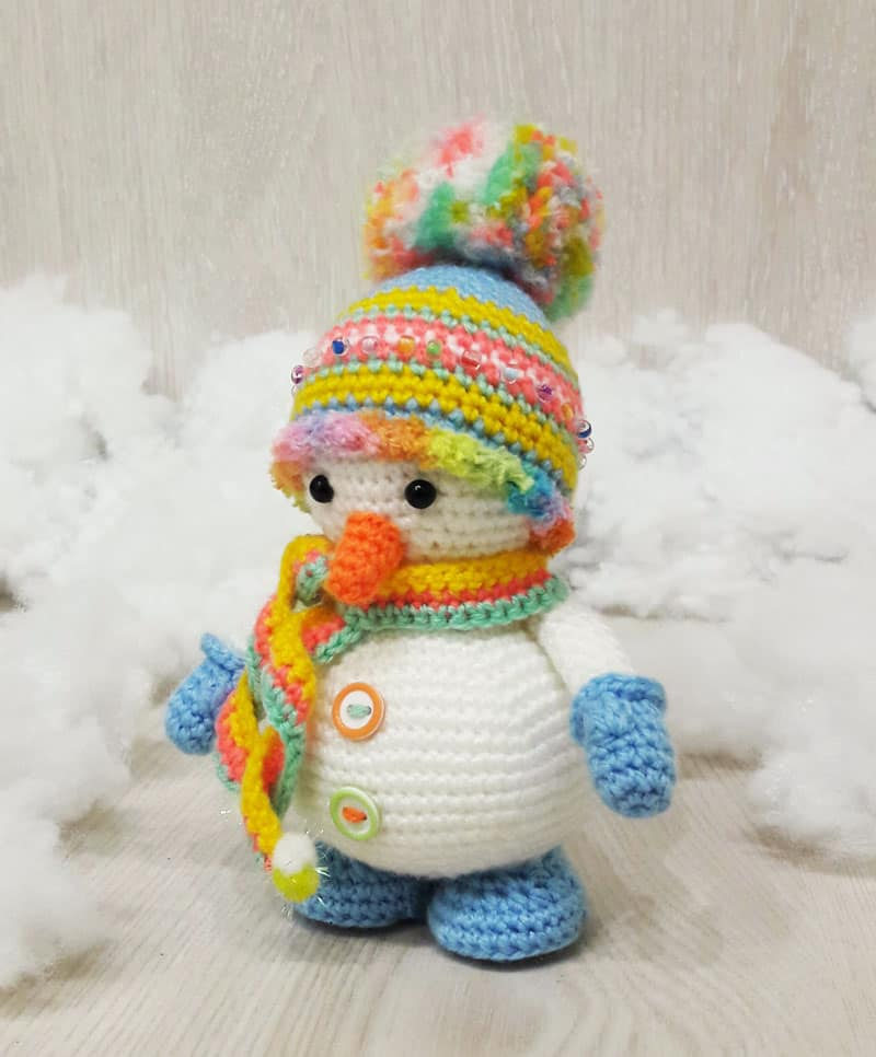 Here is roughly other gift consider for Christmas  Crochet snowman amigurumi pattern
