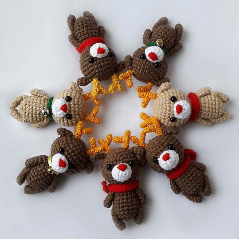 Small reindeer amigurumi pattern - Amigurumi Today