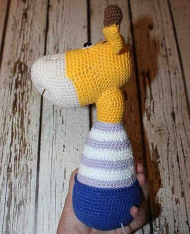 Naughty giraffe amigurumi pattern - body