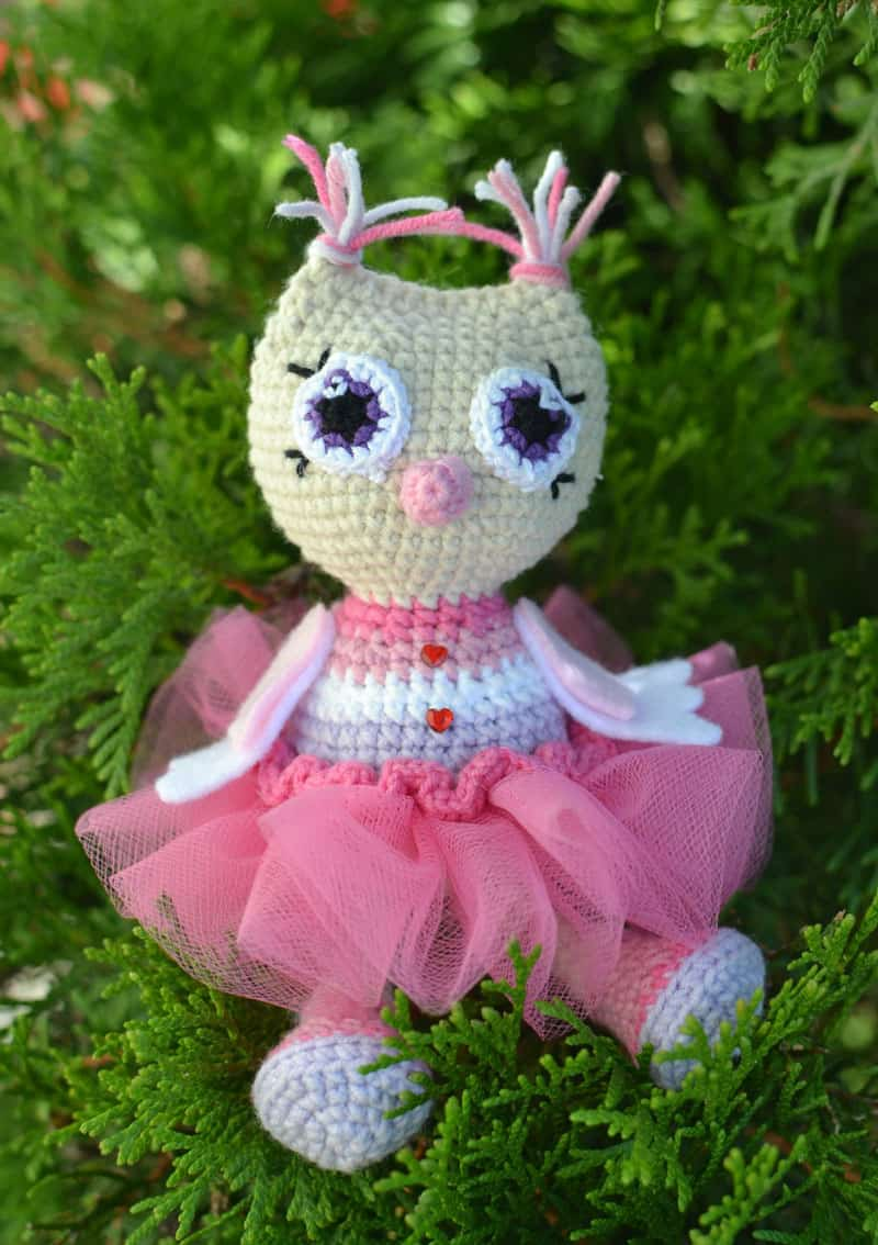 Owl princess amigurumi pattern