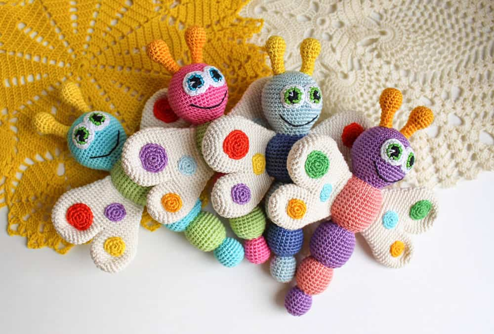 Free Crochet Butterfly Rattle Pattern