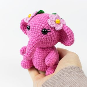 Pink amigurumi elephant - Free crochet pattern by Amigurumi Today