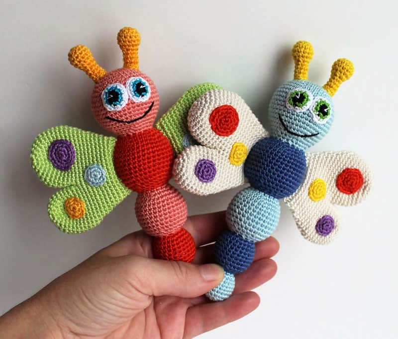 Butterfly Baby Rattle Crochet Pattern Amigurumi Today