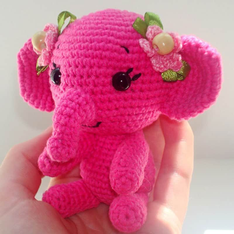 Free crochet elephant pattern - Amigurumi Today