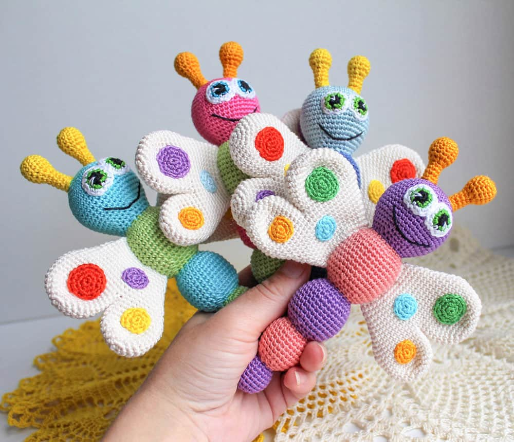 Butterfly Baby Rattle Crochet Pattern on Amigurumi Today