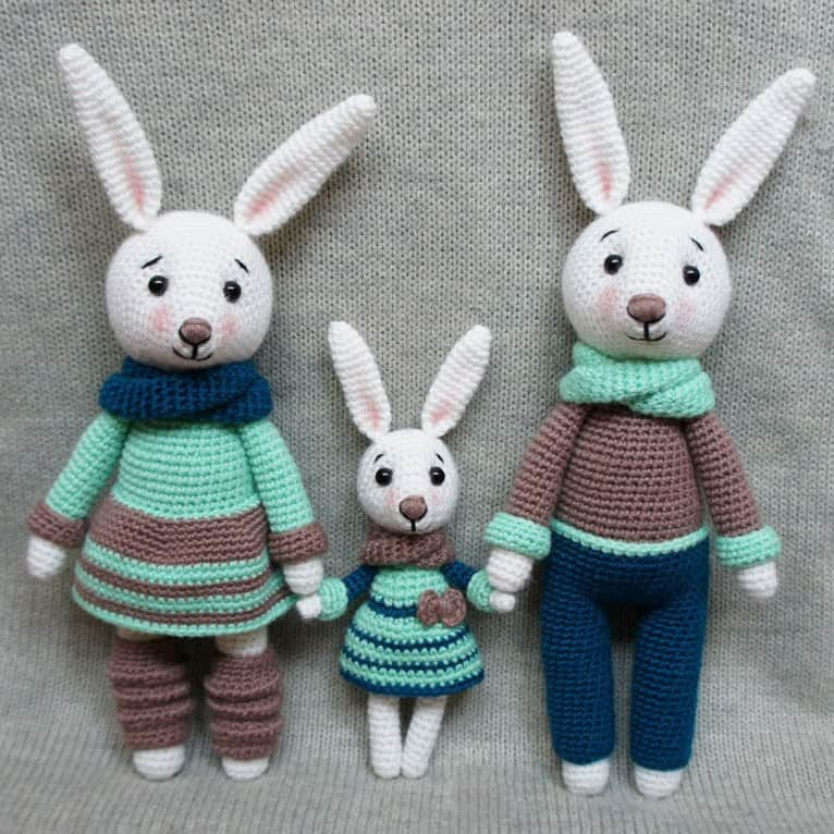Bunny Family Crochet Toys Free Patterns Amigurumi Today Adorable Amigurumi Free Pattern