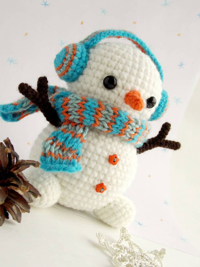 Christmas crochet patterns - Free crochet snowman pattern