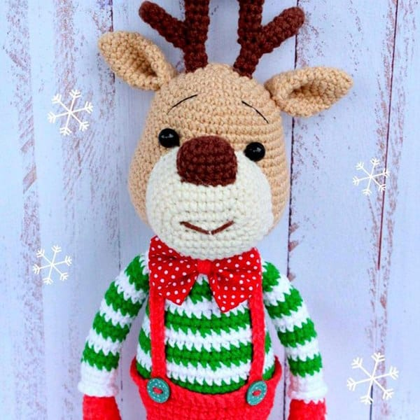 Christmas deer amigurumi pattern - Amigurumi Today