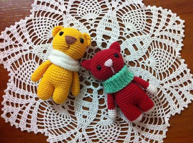 Marmalade candy animals - free crochet toy patterns