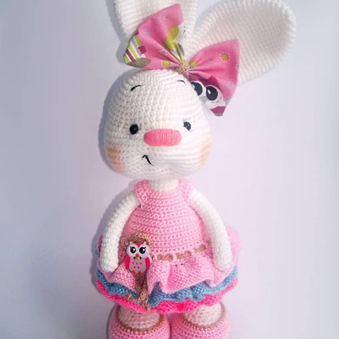 Pretty Bunny Amigurumi In Pink Dress Amigurumi Today