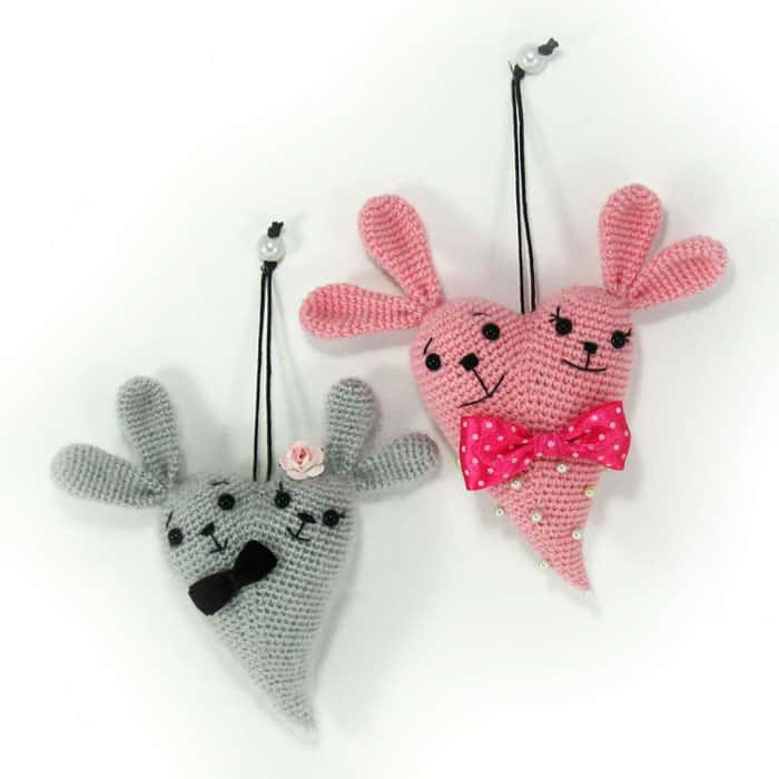 Amigurumi Love Tutorial : Bunny heart amigurumi pattern - Amigurumi Today