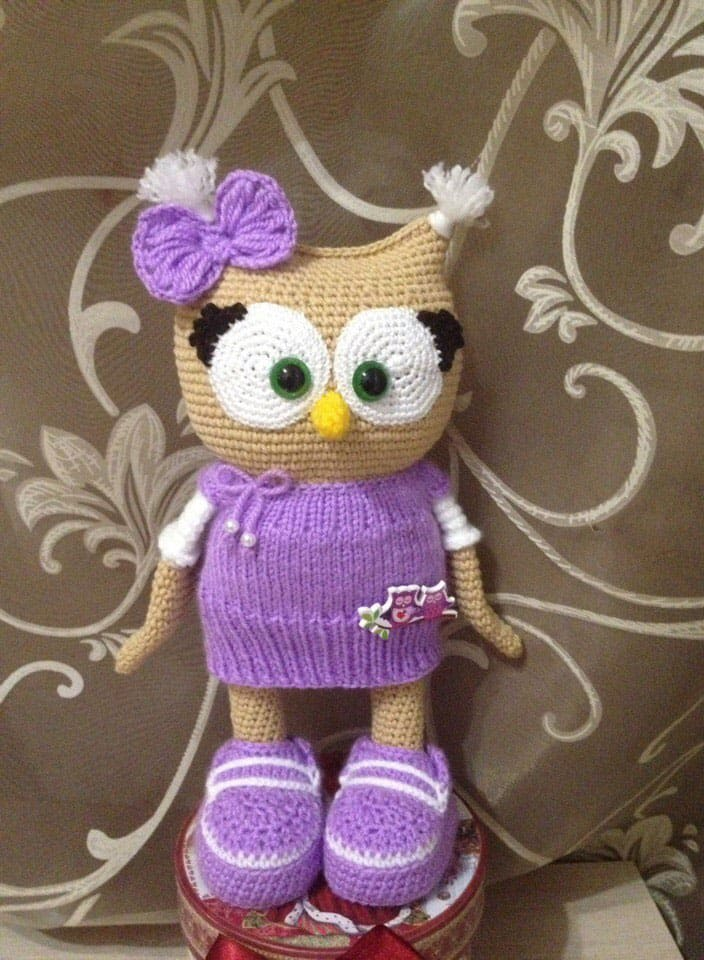 Amigurumi Pattern Free Owl : Cute owl in dress amigurumi pattern today