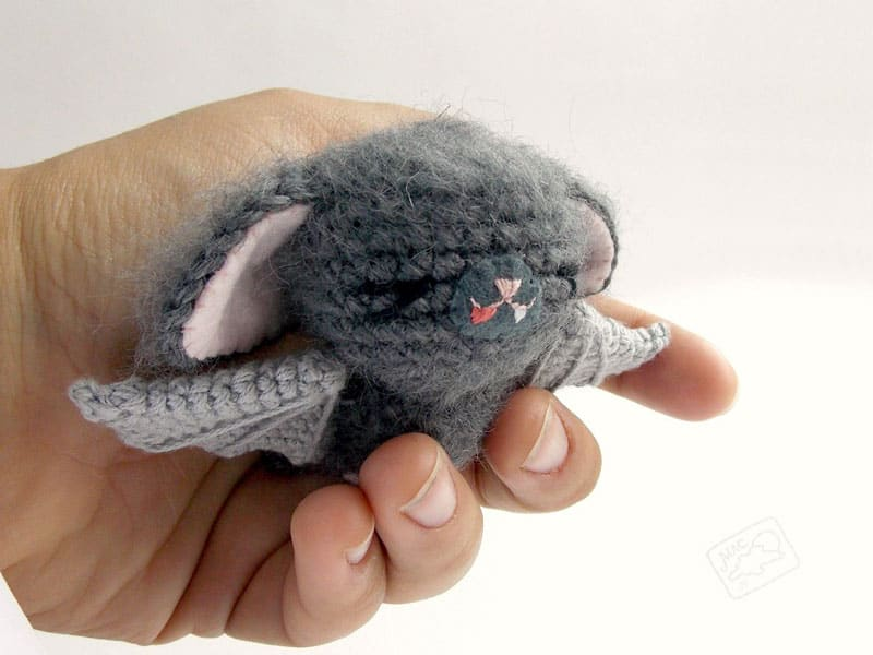 With this complimentary amigurumi designing y'all tin brand a lilliputian cute bat amongst funny flap ears  Crochet bat amigurumi pattern
