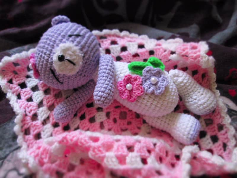 Amigurumi sleeping teddy bear crochet pattern