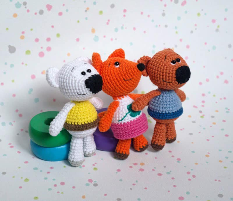 Amigurumi tiny fox - free crochet pattern