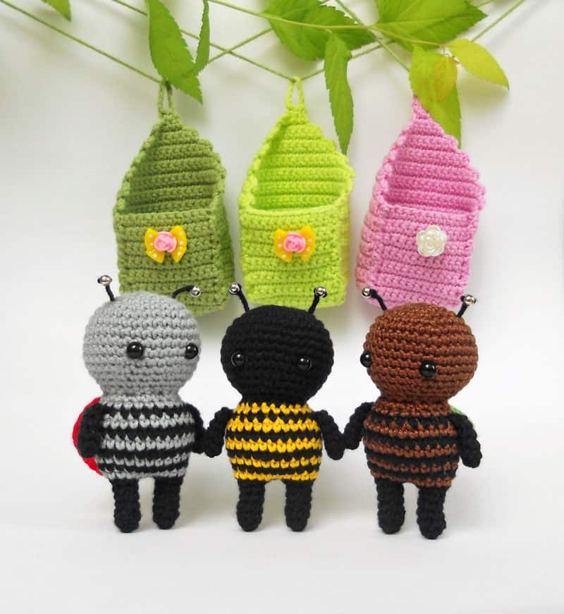 Crochet little amigurumi bugs