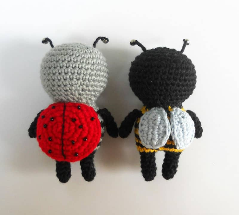 Little amigurumi bugs - free crochet pattern