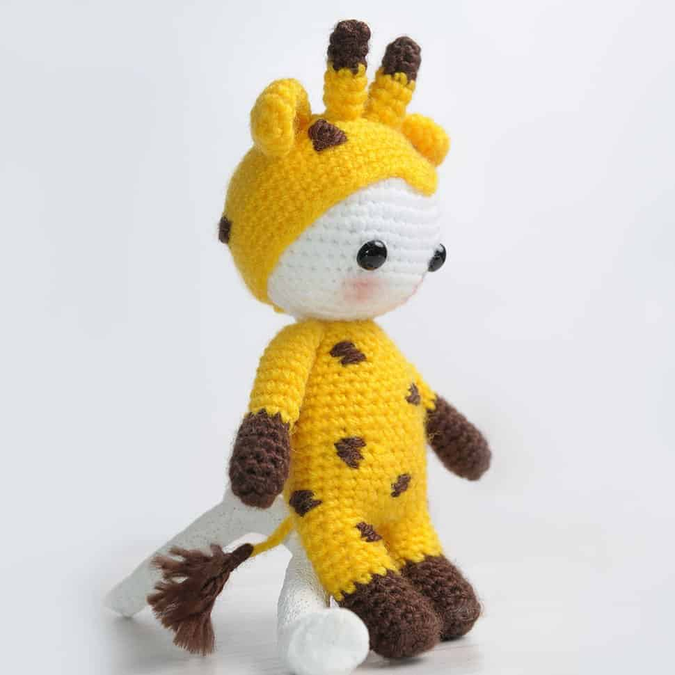 Amigurumi doll in giraffe costume 1