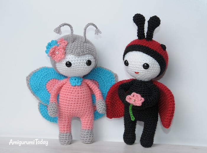 Amigurumi doll in butterfly costume