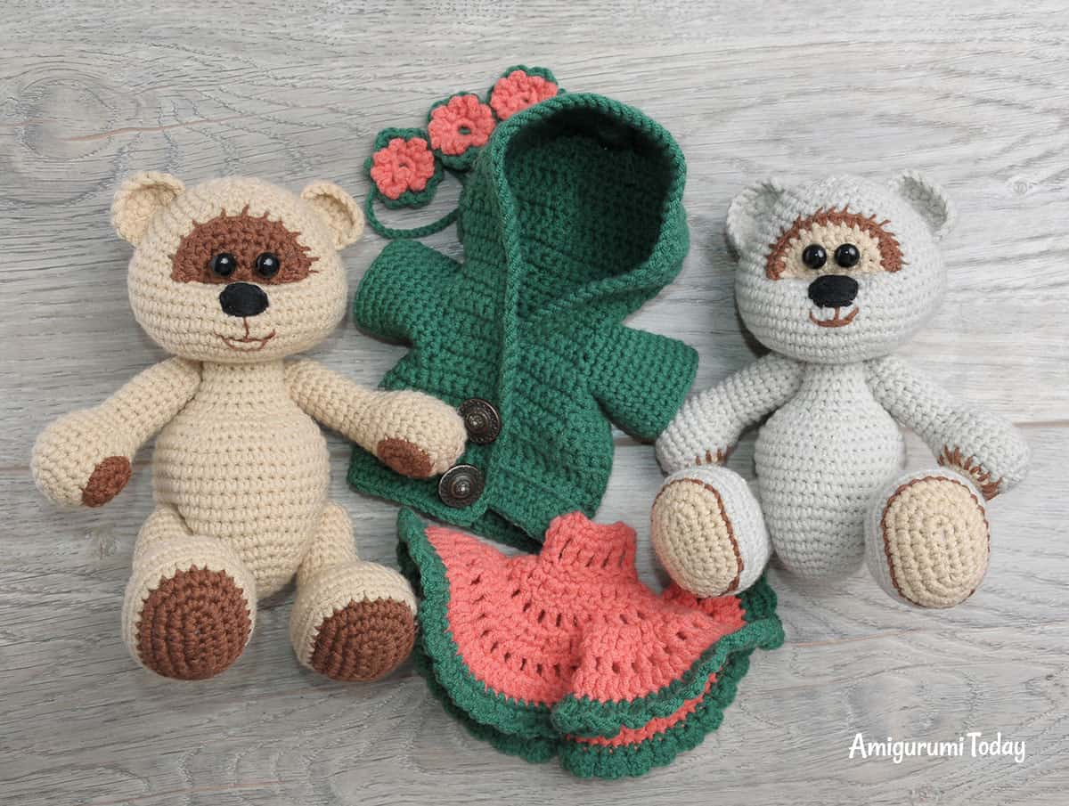 Honey bears in love - FREE crochet patterns