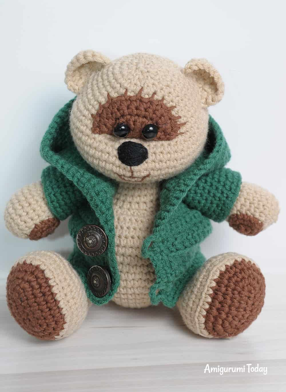 Honey teddy bear boy amigurumi pattern