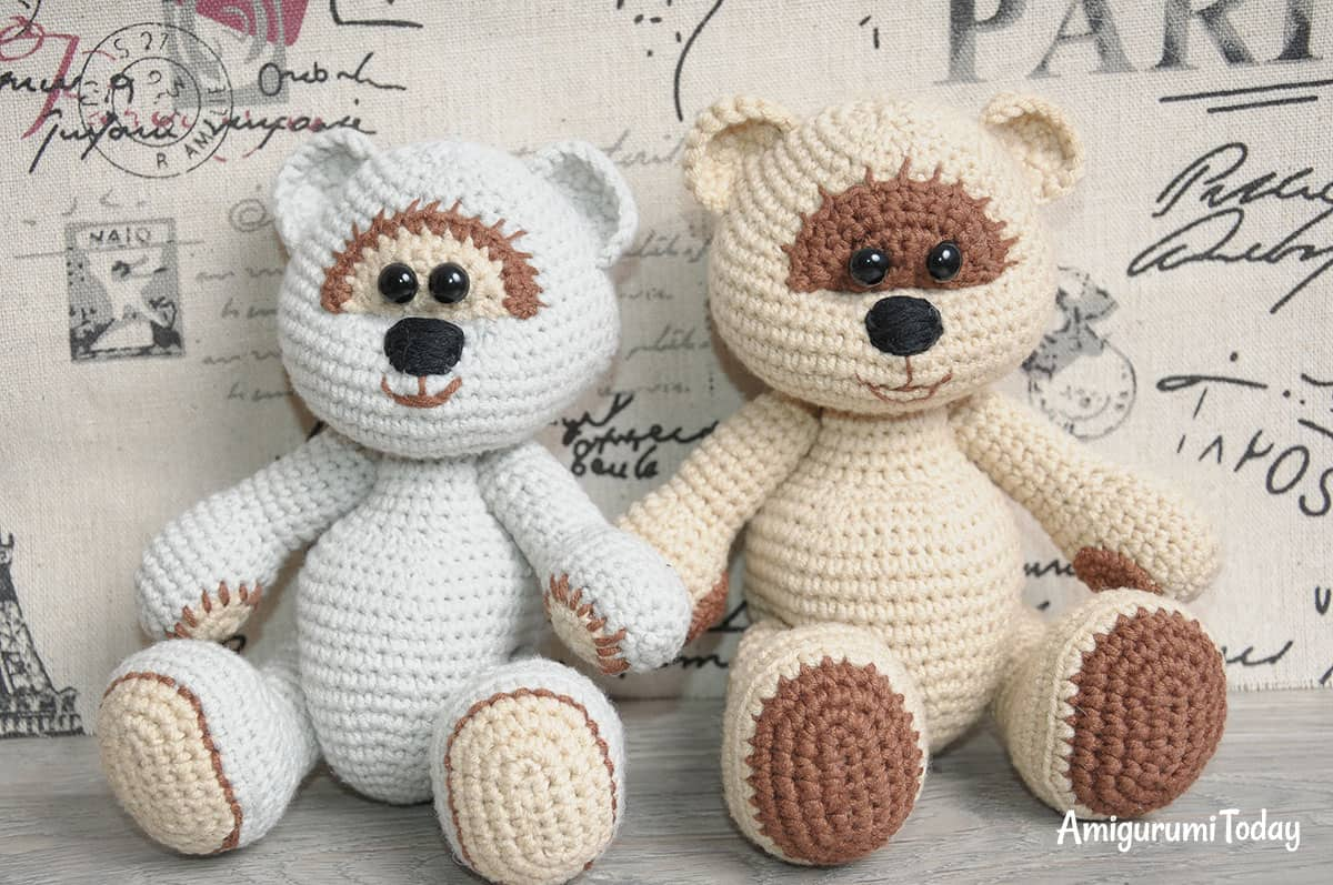 Honey teddy bears crochet pattern