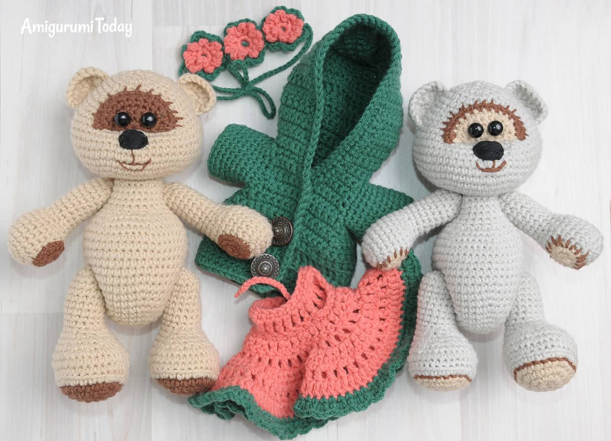 Honey teddy bears - free crochet patterns