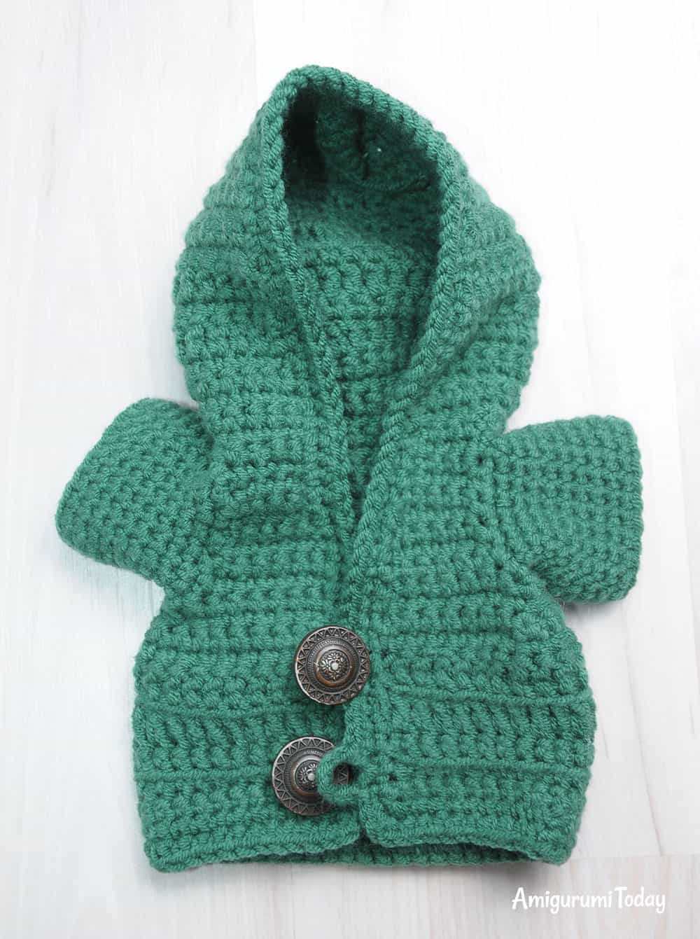 Honey teddy bears - hoodie crochet pattern