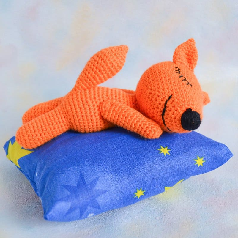 Amigurumi Strawberry Girl Free Pattern : Sleeping fox amigurumi pattern - Amigurumi Today
